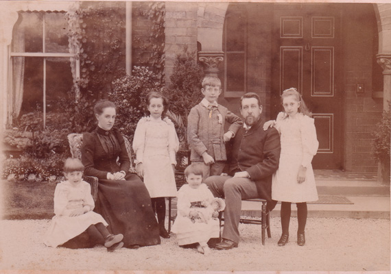 Haley family at Holmfield  House, Thornes Park, Wakefield